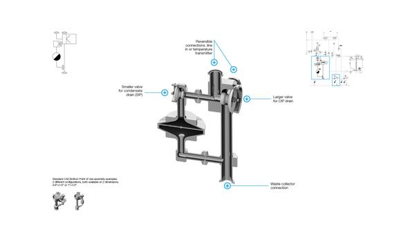 CAD Valve Bottom Drain Assembly