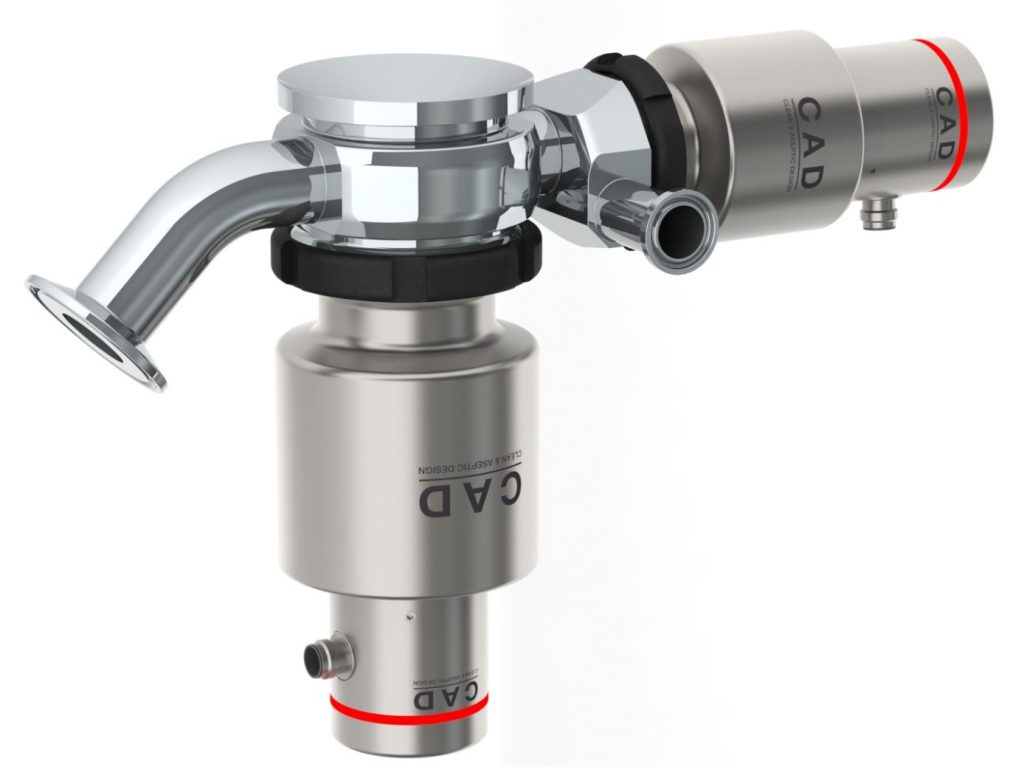 Rattiinox CAD Tank-Bottom Outlet Valves with Satalite valve with tangential outlet